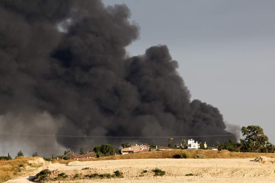 Incendio en campo de refugiados