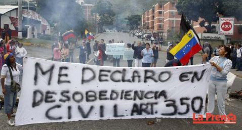 opositores fortalecen barricadas
