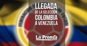 Llegada de la selección Colombia a Venezuela