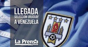 Llegada de la selección Uruguay a Venezuela