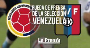 Rueda de prensa de la selección Venezuela