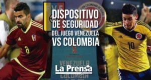 Dispositivo de seguridad del juego Venezuela vs Colombia