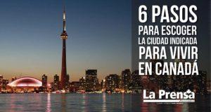 6 Pasos para escoger la ciudad indicada para vivir en Canadá
