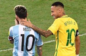 Neymar Messi seleccionados