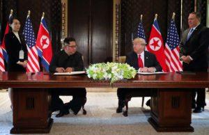Trump Kim declaración