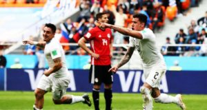 Gol Gimenez Uruguay Egipto