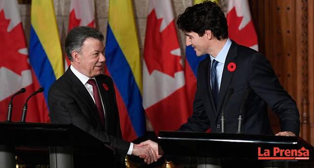 Juan Manuel Santos concluye su visita a Canadá