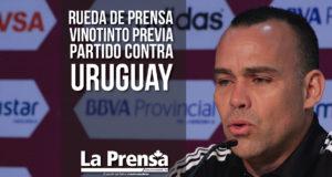 Rueda de prensa Vinotinto previa partido contra Uruguay