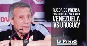 Rueda de prensa posterior al encuentro Venezuela vs Uruguay