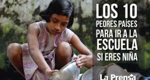 Los 10 peores países para ir a la escuela si eres niña