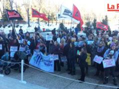 Protestas en Edmonton por cancelación de servicios de fertilidad