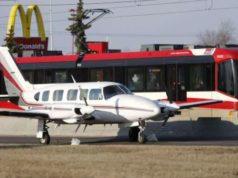 Avioneta aterriza de emergencia en calle de Calgary