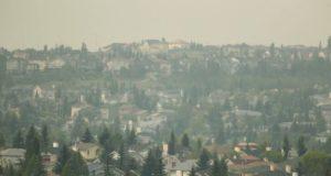 Alerta en Calgary por llegada de humo de los incendios de BC