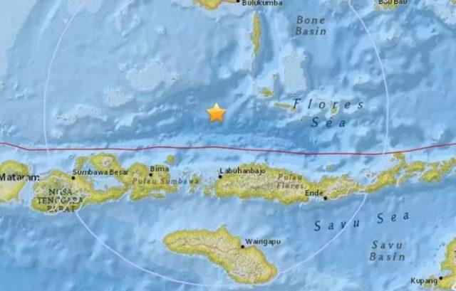 Un terremoto de magnitud 6.5 azota la costa de Lombok en Indonesia
