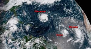Huracán Florence bajó a categoría 3 pero sigue siendo extremadamente peligroso