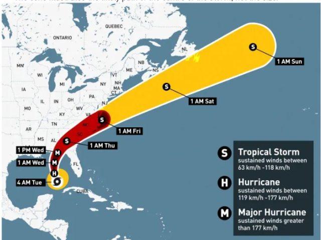 Huracán Michael se fortalece a categoría 3 a medida que avanza hacia Florida