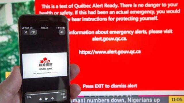 ¡No se asuste si recibe una alerta de emergencia! El sistema Alert Ready tendrá su segunda ronda de prueba hoy