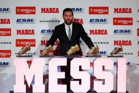 Messi gana su quinta Bota de Oro