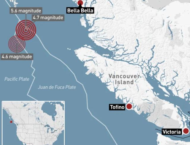 3 terremotos fueron detectados en las costas de B.C.